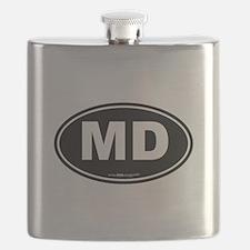 Maryland MD Euro Oval Flask