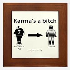 Vick's Karma Framed Tile