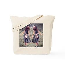 vintage garden twin girls Tote Bag