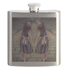 vintage garden twin girls Flask