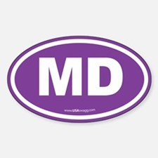 Maryland MD Euro Oval PURPLE Decal