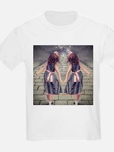 vintage garden twin girls T-Shirt