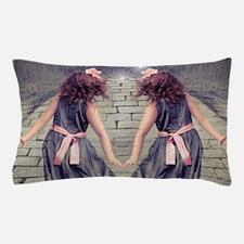 vintage garden twin girls Pillow Case