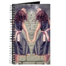 vintage garden twin girls Journal