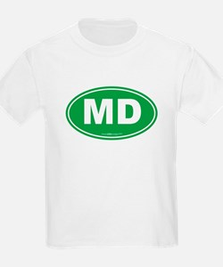 Maryland MD Euro Oval GREEN T-Shirt