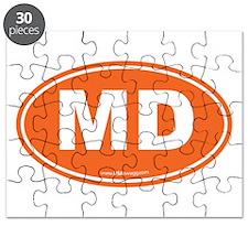 Maryland MD Euro Oval ORANGE Puzzle