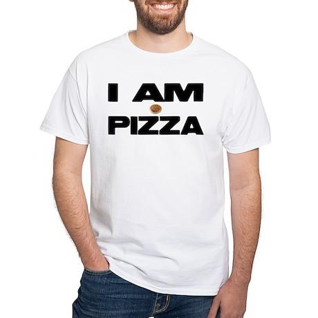 I AM PIZZA White T-Shirt