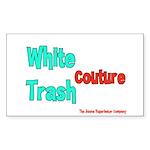 White Trash Couture (Brand) Rectangle Sticker
