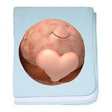 3D Pluto Heart baby blanket