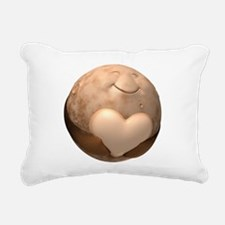 3D Pluto Heart Rectangular Canvas Pillow