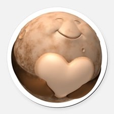 3d Pluto Heart Round Car Magnet