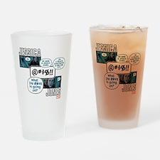 Jessica Jones Cursing Drinking Glass