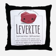 Leverite Agate Throw Pillow