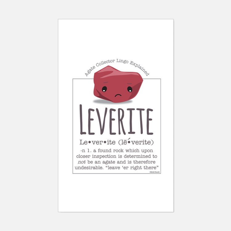 Leverite Agate Sticker (Rectangle)