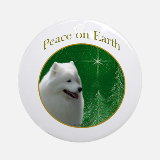 Samoyed Peace Ornament (Round)