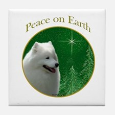 Samoyed Peace Tile Coaster