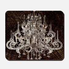 rustic wood vintage chandelier Mousepad