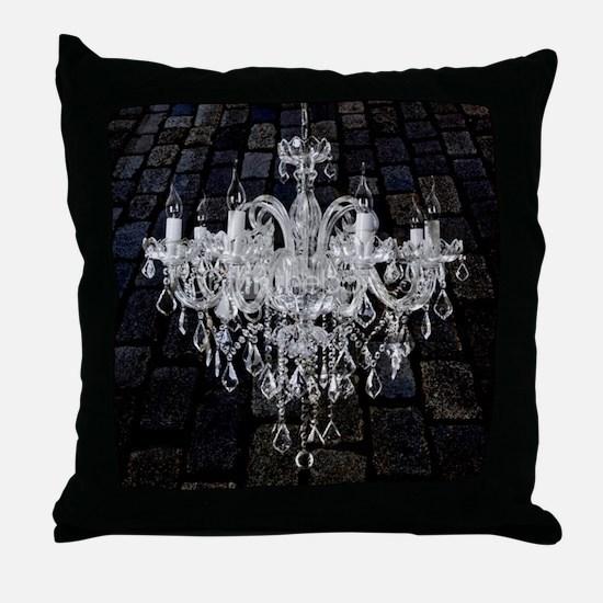 rustic grunge vintage chandelier Throw Pillow