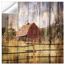 western country red barn Wall Decal