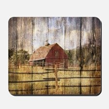 western country red barn Mousepad