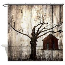 rural landscape old barn Shower Curtain