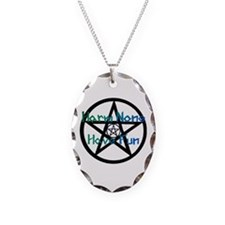 Harm None Pentacle Green Necklace
