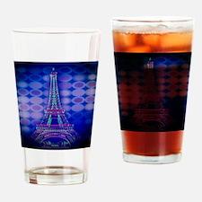 modern circles eiffel tower Drinking Glass