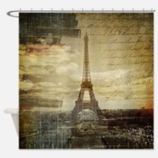 shabby chic paris eiffel tower Shower Curtain