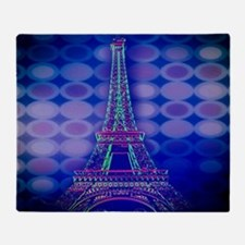modern circles eiffel tower Throw Blanket