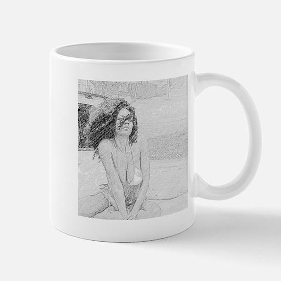 bw swimsuit Mug