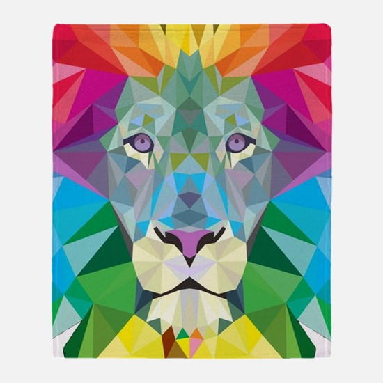 Rainbow Lion Throw Blanket