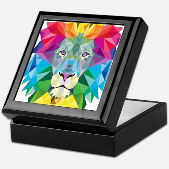 Rainbow Lion Keepsake Box