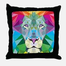 Rainbow Lion Throw Pillow