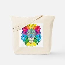 Rainbow Lion Tote Bag