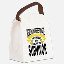 Childhood Cancer Strength Canvas Lunch Bag