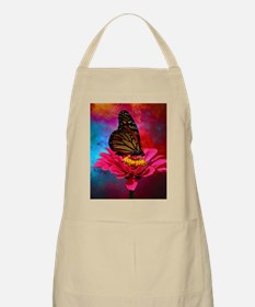 turquoise pink girly butterfly Apron