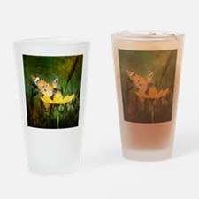 spring daisy yellow butterfly Drinking Glass