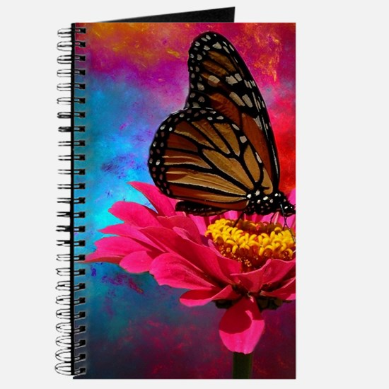 turquoise pink girly butterfly Journal