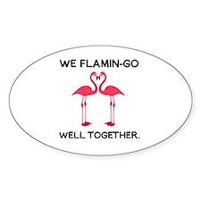 Cute Flamingos Decal