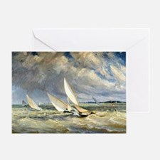 Cute Racing boats Greeting Card
