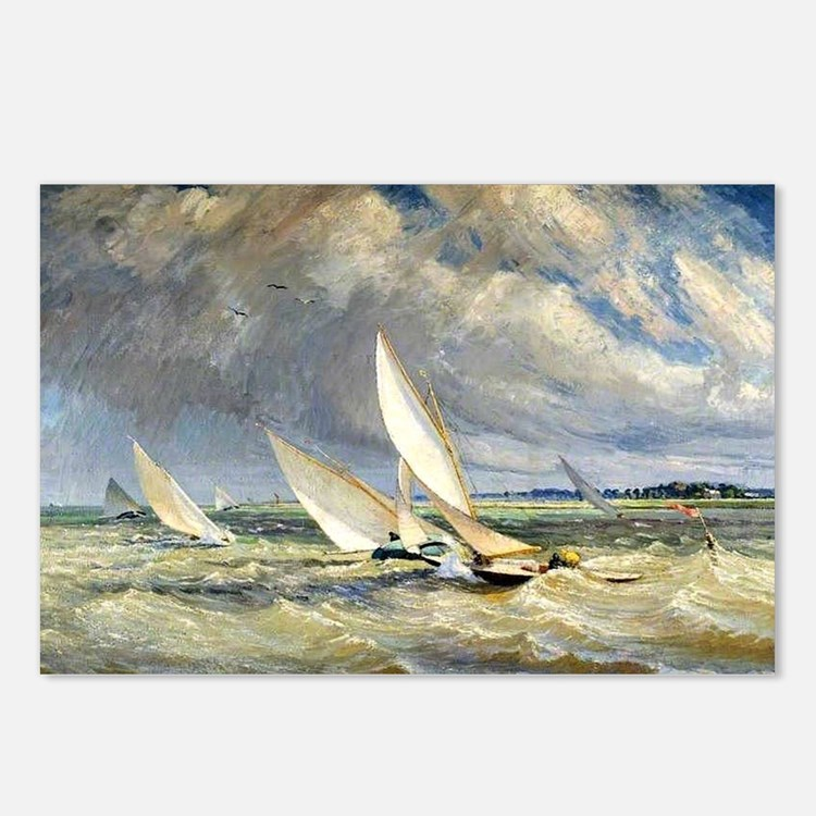 Cute Racing boats Postcards (Package of 8)