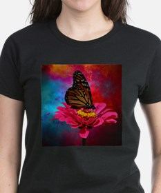 turquoise pink girly butterfly T-Shirt
