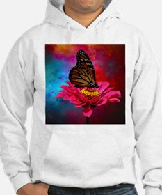 turquoise pink girly butterfly Hoodie