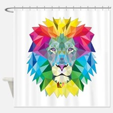 Rainbow Lion Shower Curtain