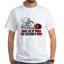 Snoopy - Wake Me Up White T-Shirt