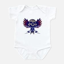 Lighting bolt skull Infant Bodysuit