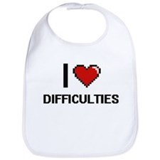 I love Difficulties Bib