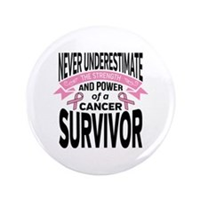 Breast Cancer Strength Button