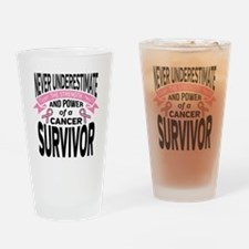 Breast Cancer Strength Drinking Glass