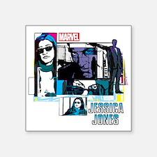 """Jessica Jones & Purple Man Square Sticker 3"""" x 3"""""""
